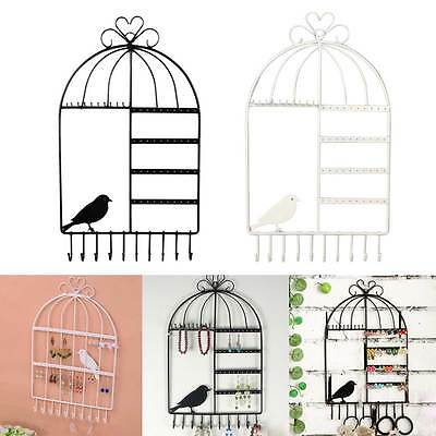 New Popular Wall-Mounted Birdcage Jewelry Earring Bracelet Display Hanger Holder