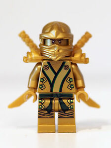 LEGO-Ninjago-minifigure-GOLDEN-NINJA-with-weapons