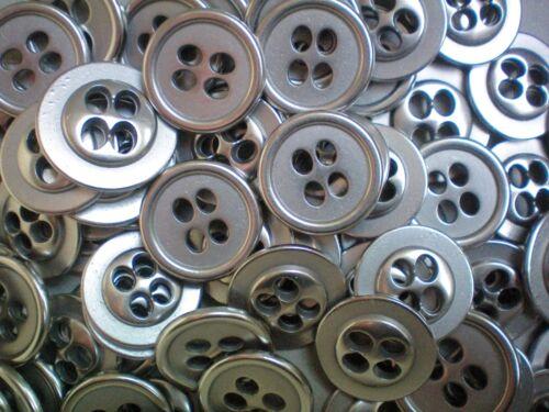 MB147-MB150 15mm 18mm 20mm 23mm silver satin métal 4 trous industriel boutons x