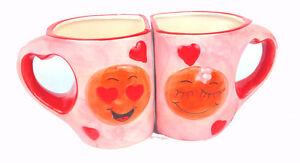 Gobelet-2-Il-Set-Tasse-avec-Anse-Tasse-a-Cafe-Drole-Motifs-I-Love-Vous-C-ur