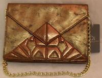 Danielle Nicole Purse Shoulder Bag Bronze Gold Chain 3 Credit Card Slots