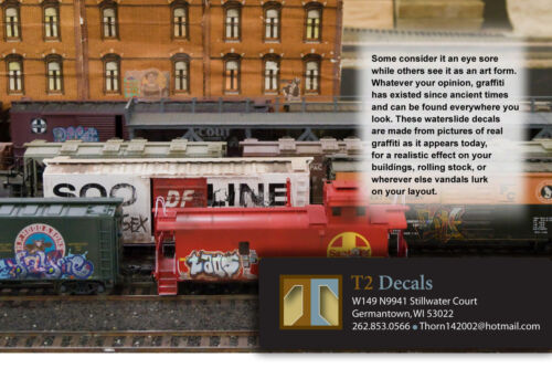Gondolas /& Hoppers! O Scale Custom Graffiti Decals #23 Weather Your Box Cars