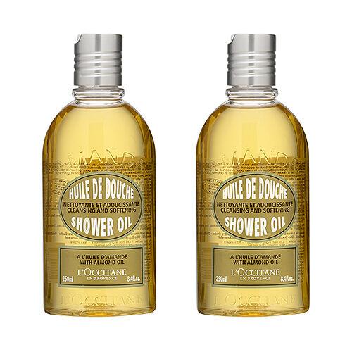 SET OF 2 L'Occitane Almond Shower Oil 250ml Body Bath Cleansers Fresh #660_2