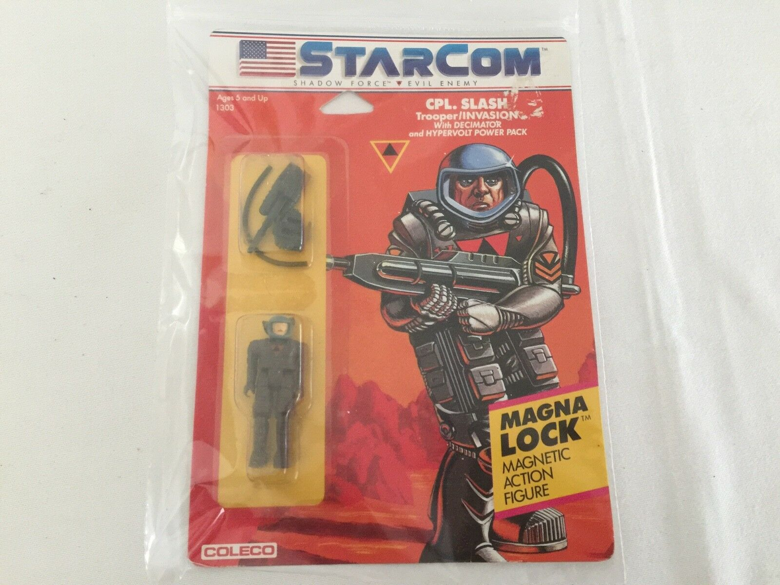Starcom CPL Slash figure sur la voiturete MOSC COLECO USA  Version  magasin en ligne de sortie