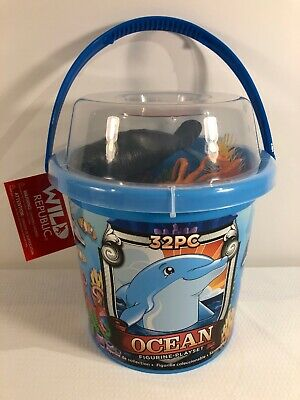 Details about  /Wild Republic Sharks Bucket of Mini Figurines *FREE DELIVERY**