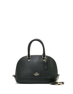 a588a148ade4e Coach F37217 F 57555 Mini Sierra Crossgrain Dome Satchel Handbag Im black