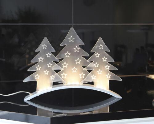 Lumières DEL Arc Schwibbogen Arbre Fenêtre Chandeliers 3 sapins 40 x 29 cm 70203