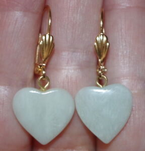 Image Is Loading Vintage 14k Gold Filled Carved Heart Blue Lace