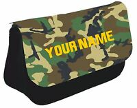 Personalised Boys Army Soldier Pencil Case  bag back to school