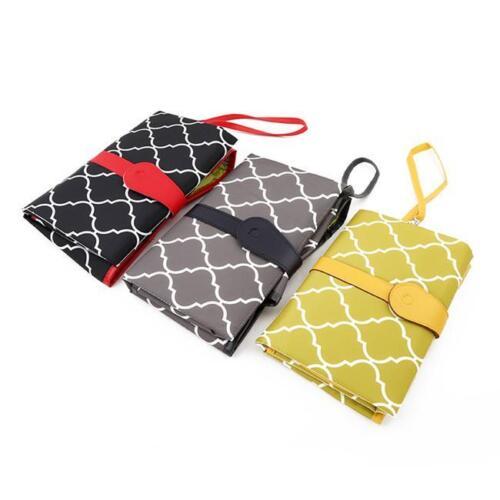 Baby Nappy Bag Diaper Changing Change Clutch Mat Foldable Pad Handbag Wallet LC