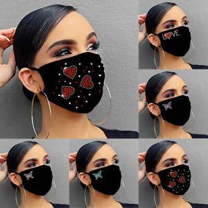 Masken Atmungsaktiv Valentinstag Drucken waschbar wiederverwendbar Outdoor mask2