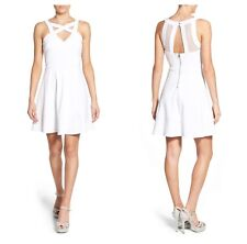 29e5b0f1f Love Nickie Lew Cross Front Skater Party Dress Cage Neckline White ...