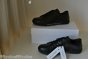 NEW VERSACE COLLECTION BLACK LEATHER