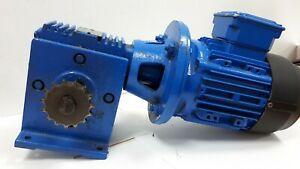 Image Is Loading Brook Hansen 0 37kw Electric Motor Gearbox 1410rpm