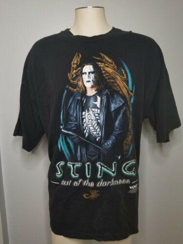 Vintage 90s Mens 3XL WCW WWF Sting Wrestling T Shi