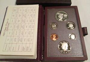 1983-Prestige-Proof-Set-U-S-Mint-COA-Box-6-coin-Olympic-Silver-Dollar