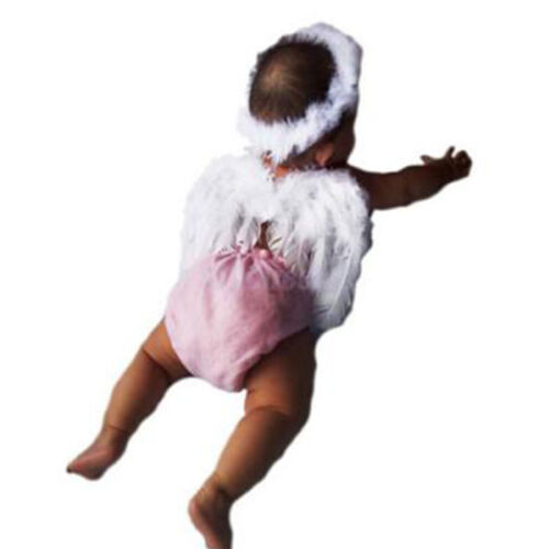 Cute Baby White Angel Wings Feather Party Decoration for Photo Prop