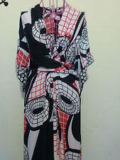 ISSA LONDON RUNWAY POLLYANNA DOUBLE GEORGETTE KAFTAN MAXI DRESS NWT SMALL S NEW