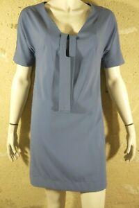 COP-COPINE-Taille-40-Superbe-robe-manches-courtes-bleue-bleu-dress-kleid