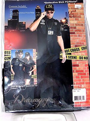 Xxl Men S Csi Crime Scene Police Uniform Costume Cosplay Halloween Costume Ebay
