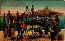 CPA MARSEILLE Marius la sardine (403606)