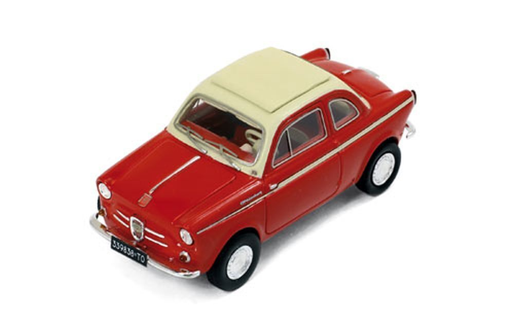 Premium-X 1 43  Pr0021 Nsu-Fiat Weinsberg 500 (1960), Red  Light Beige
