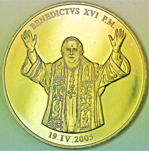 2005 April 19th Pope Benedict XVI Vatican Catholic Proof Medal