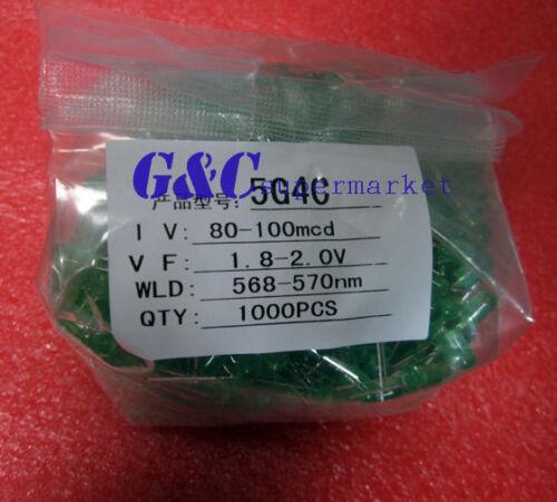 1000Pcs LED DIFFUSED   F5 5MM GREEN COLOR GREEN LIGHT Super Bright Bulb Lamp L3