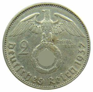 (f94) - Germany Troisième Reich - 2 Reichsmark 1937-1939 - Riche Adler-km # 93-afficher Le Titre D'origine