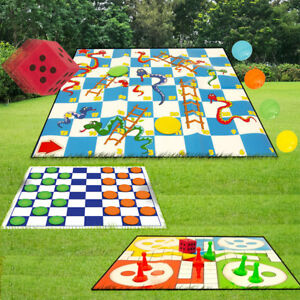 Details about Draughts / Snakes and Ladders / Ludo / Drafts Giant Garden  Games Sets Outdoor