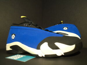 0a02736cc156b4 Nike Air Jordan XIV 14 Retro Low LANEY ROYAL BLUE MAIZE YELLOW BLACK ...