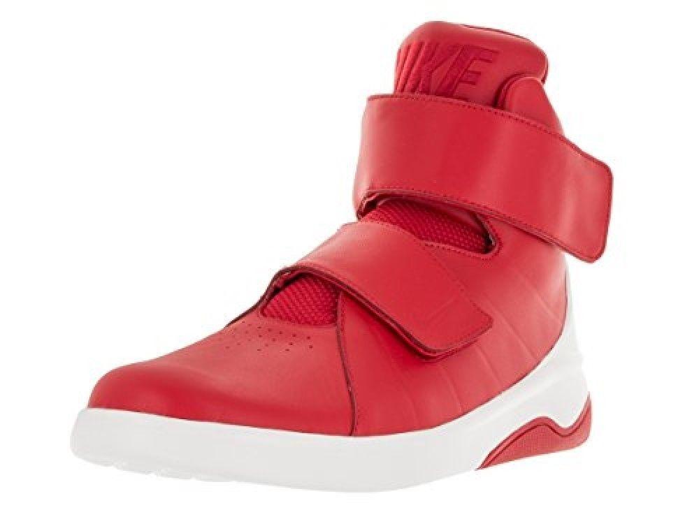 Men's Nike MARXMAN 832764-600 Red White Leather Basketball shoes SIZE 11