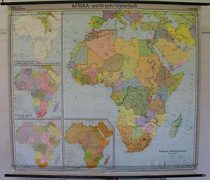 Stumme Karte Afrika.Details Zu Schulwandkarte Wandkarte Schulkarte Karte Afrika Politisch Historisch 206x185cm
