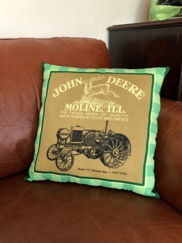 John Deere Pillow Model N Waterloo Boy Tractor Moline Illinois Handmade New