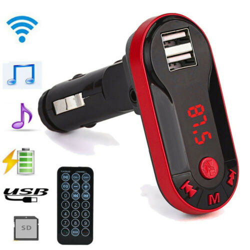 Wireless HandsFree Car FM Transmitter USB Charge LED Bluetooth MP3 Player Kit