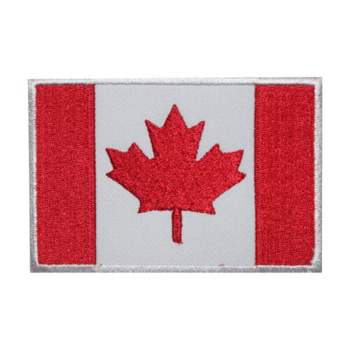 Canada National Flag Embroidered Iron on Sew on PatchBadge For Clothes etc