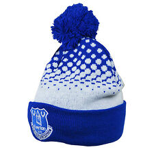 Official Everton FC Bobble Beanie Hat FREE (UK) P+P