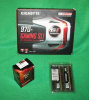 Gigabyte 970 Gaming Sli Motherboard Amd Fx-8320e 3.2-4ghz Cpu & 16gb Ram Combo