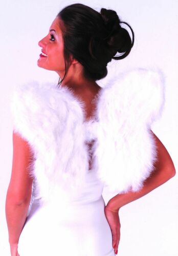 """HUGE 36/"""" White Feather Wings 24/"""" or 14/"""" FREE SHIP! Halo Halloween Costume"""