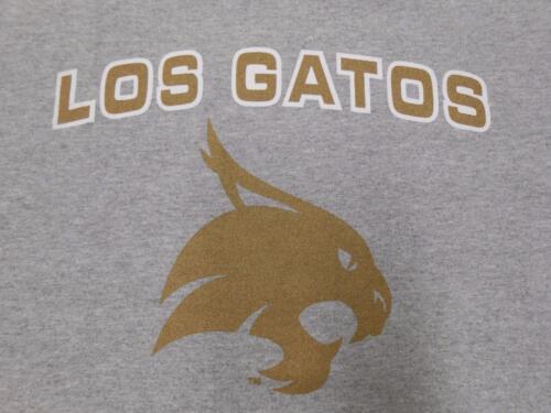New NCAA Texas State Los Gatos Bobcats Mens Sizes S-M-L-XL-2XL Gray Shirt