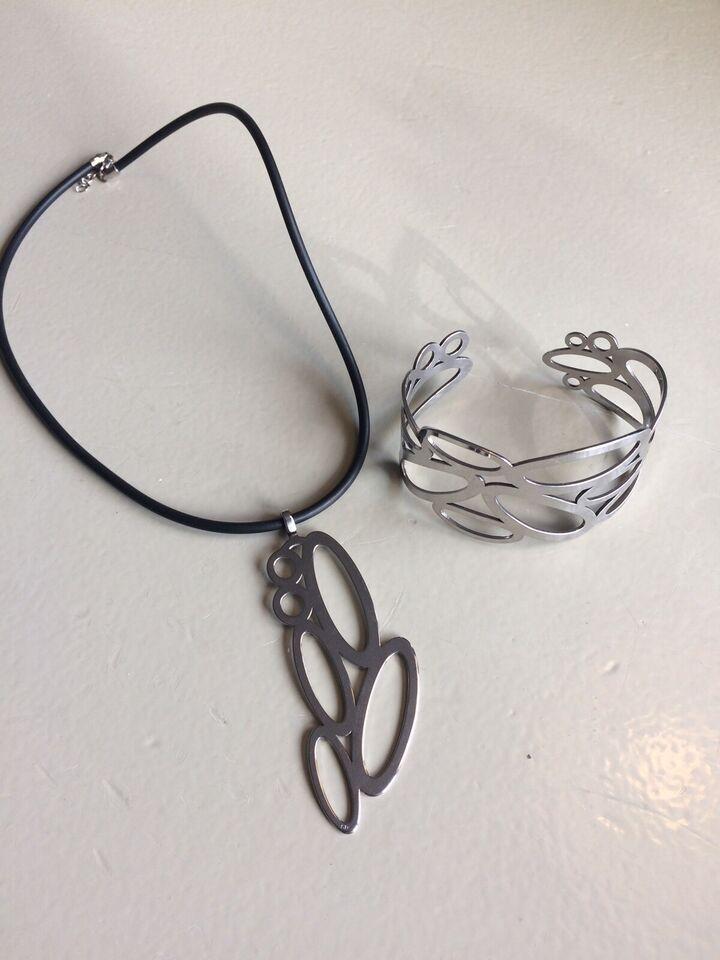 Smykkesæt, stål, Støvring Design