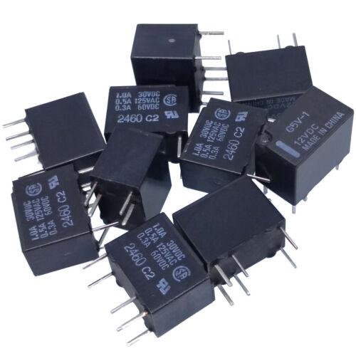 US Stock 10pcs RELAY G5V-1-12VDC G5V-1 Low Signal Relay