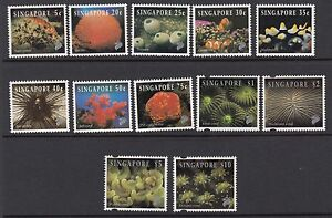 SINGAPORE :1994 Reef Life definitive set 1 SG742-53 MNH