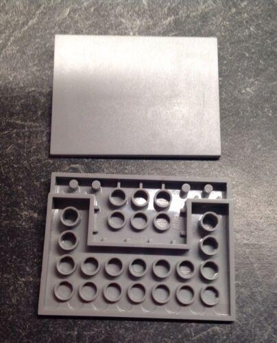Lego 2 Dachplatten Rampen Althellgrau