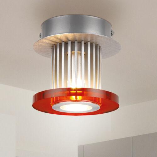 Glas Decken Lampe Flur Küchen Beleuchtung Design ALU Leuchte Ringe austauschbar