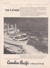 ORIGINAL 1957 MAGAZINE ADVERT FOR CANADIAN PACIFIC 'EMPRESS'