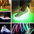 Unisex Donna luce LED Con Lacci Luminous Scarpe Abbigliamento sportivo Sneaker