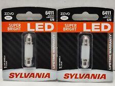 New 6411 Sylvania Zevo Super Bright Led 6000k 2 Bulbs Free Shipping