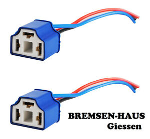 H4 Keramikfassung Stecker Lampensockel Lampenfassung m Kabel P43t  KFZ Plug