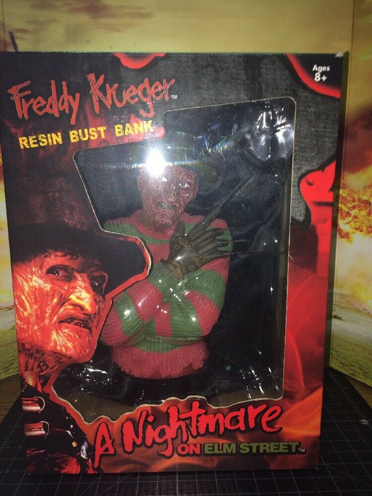 A Nightmare on Elm Street FrossoDY KRUEGER Resin Bust Bank - MONOGRAM - *NEW*